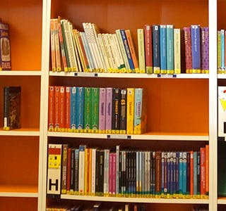 LESETRENING: Skulen har mellom anna satsa på bibliotekprosjektet «Rett bok til rett elev til rett tid».
